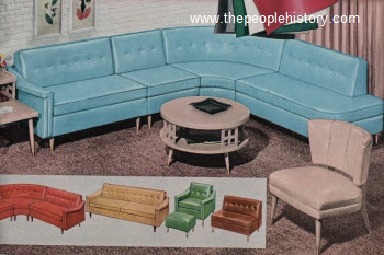 Great 1958 Palomino Plastic Furniture