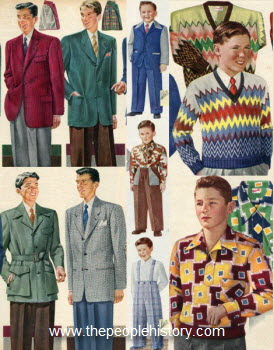 1950s childrens fashion part of our fifties fashions section