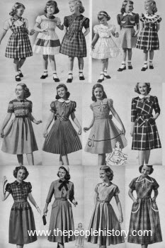 1950s Children's Fashion Part of Our Fifties Fashions Section