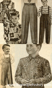 1954 Boys Clothes