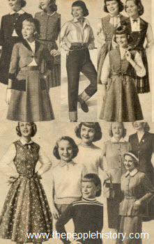 1954 Girls Clothes