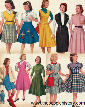1955 Girls Clothes