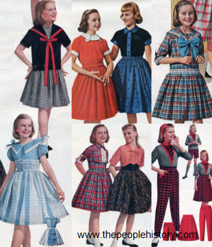 1958 Girls Clothes