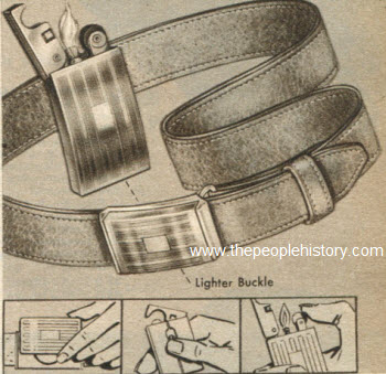 Belt Buckle Lighter 1951