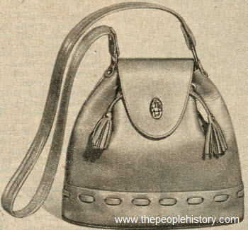 Drawstring Cowhide Bag 1951