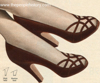 Open Toe Covered Back Shoe 1951