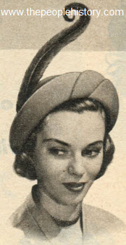 Petal Off Face Brim Hat 1951