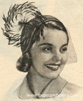 Pinwheel Feather Helmet 1951
