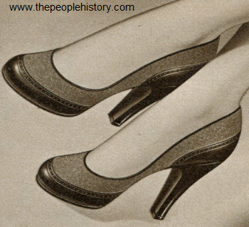 Flannel Accent Pump 1952