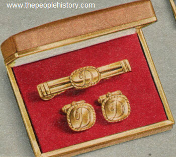 Men's Initial Cuff Links 1953