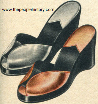 Metal Colored Platform 1953