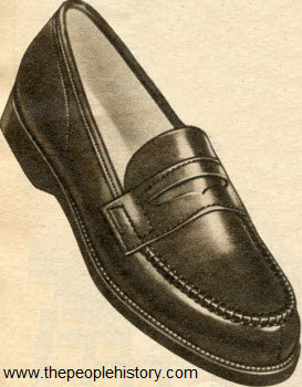 Leather Moccasin Shoe 1954
