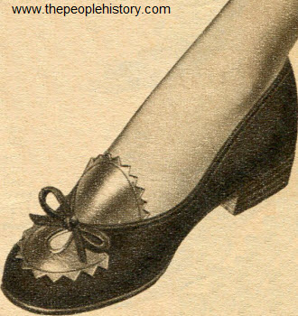Leather Suede Contrast Pump 1954