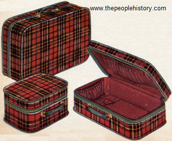 Featherlight Plaid Cases 1955