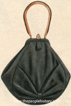 Shirred Bow Pouch 1956