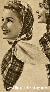 Two Way Scarf Hat 1956