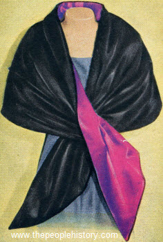 Dramatic Reversible Stole 1957