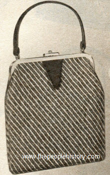 Diagonal Tweed Pouch 1958