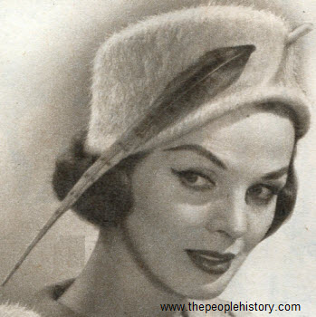 Feathered Profile Hat 1958