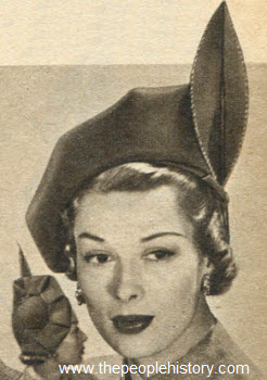 Dramatic Profile Hat 1950