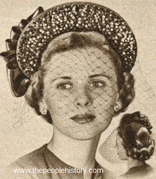 Sequin Brim Half Hat 1950