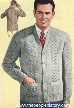 Cable Stitch Sweater Coat 1950