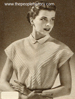 Chevron Tuck Shirt 1950