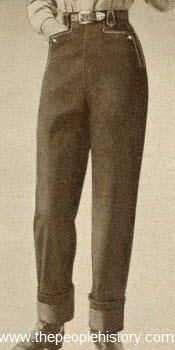 Denim Pipestem Pants 1950