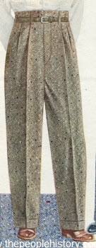 Donegal Tweed Slacks 1950