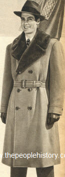 Fur Trimmed Coat 1950