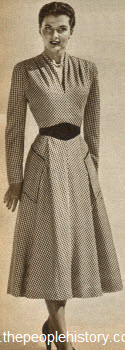 Rayon Taffeta Check Dress 1950