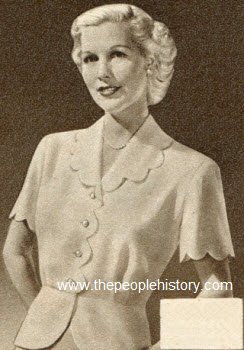 Scalloped Jacket Blouse 1950