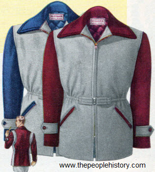 Two Tone Campus Style Jacket 1950