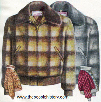 Wool Blouse Plaid Jacket 1950