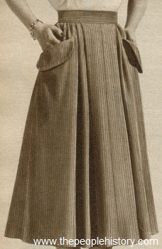 Colorful Corduroy Skirt 1951
