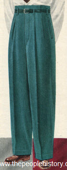 Colorful Corduroy Slacks 1951