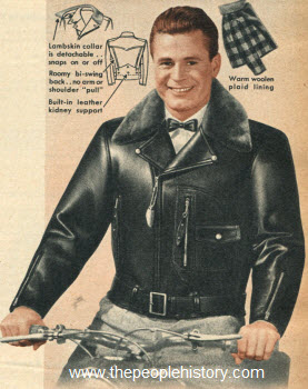 Double Collar Motorcycle Jacket 1951