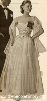 Glamorous Formal Gown 1951