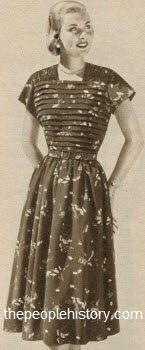 Printed Crepe Maternity Dress 1951