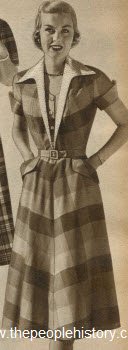 Rainbow Plaid Gingham Dress 1951
