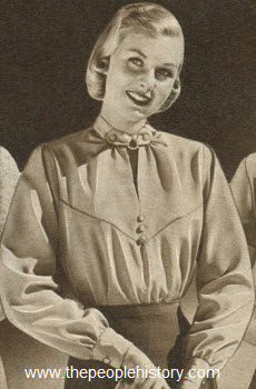 Ring and Tab Neckline Shirt 1951