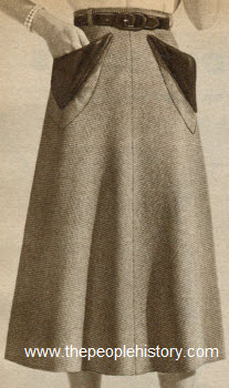 Wool Pin Check Skirt 1951