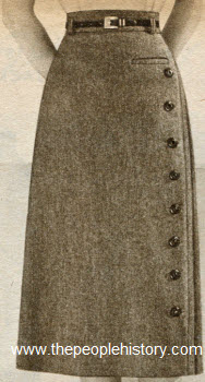 Button Skirt 1952