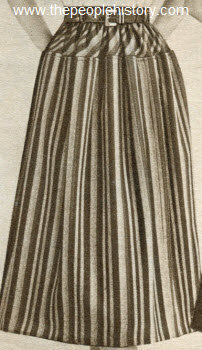 Gathered Yoke Stripe Skirt 1952