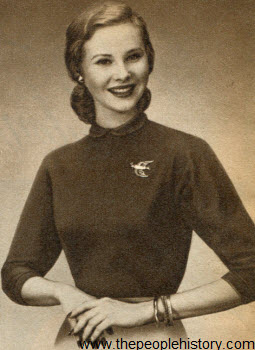 Golden Bird Knit Cotton Shirt 1952