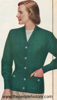 Hollywood Coat Sweater 1952