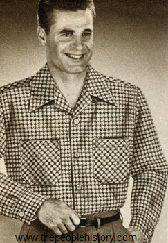 Houndstooth Pattern Shirt 1952
