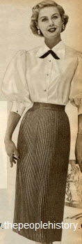 Knife Pleat Skirt 1952