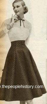 Princess Waistline Skirt 1952