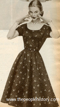 Quilted Cotton Dress 1952